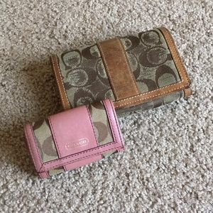 Coach Wallet & Key Holder - Authentic